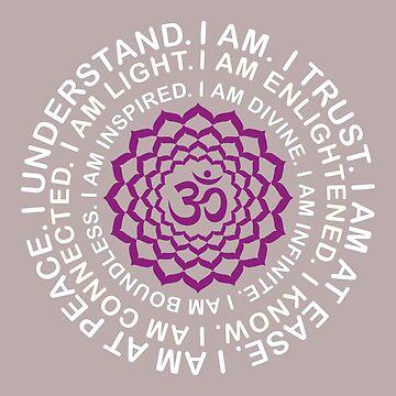 Yoga Yogi Sahasrara Crown Chakra Birthday Christmas by smily-tees