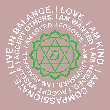 Yoga Yogi Anahata Heart Chakra Birthday Christmas by smily-tees