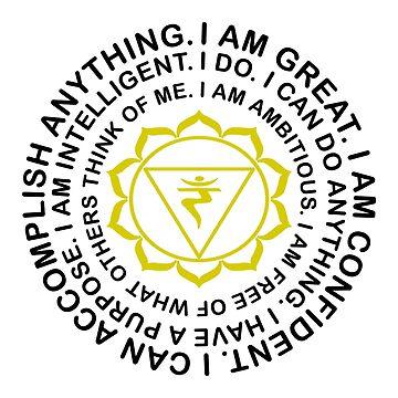 Yoga Yogi Solar Plexus Manipura Chakra Birthday Christmas by smily-tees