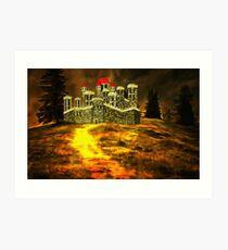 Duke of York's Sandal Castle, Wakefield, West Yorkshire, England 1460 (includes video) Art Print
