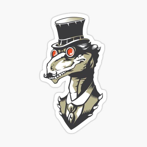 Dromeosaur Industrial vector Sticker
