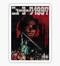 Escape from New York Japanese Poster Sticker
