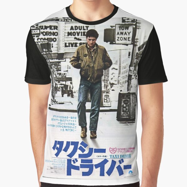 Taxi Driver Japanese Poster Graphic T-Shirt