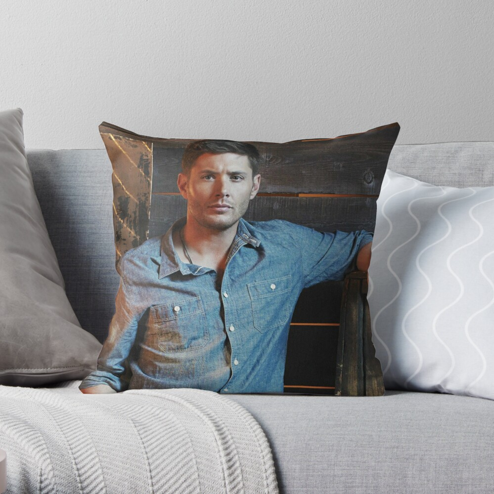 Jensen Ackles Throw Pillow