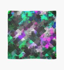 psychedelic square pixel pattern abstract background in green pink blue Scarf