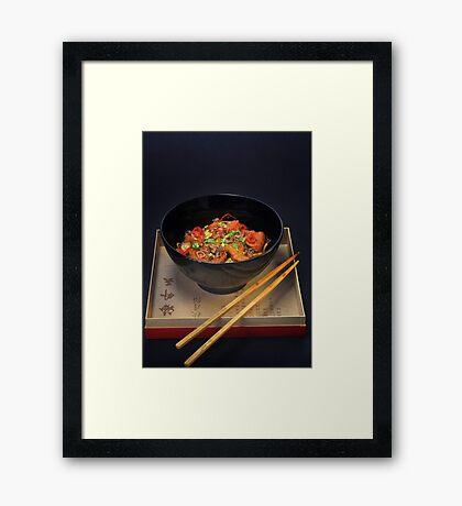 Chinese Noodles  Framed Print