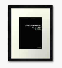 Harvey Specter - I could agree with you but then we'd both be wrong Quote Framed Print