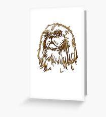 Pekingese Dog Greeting Card