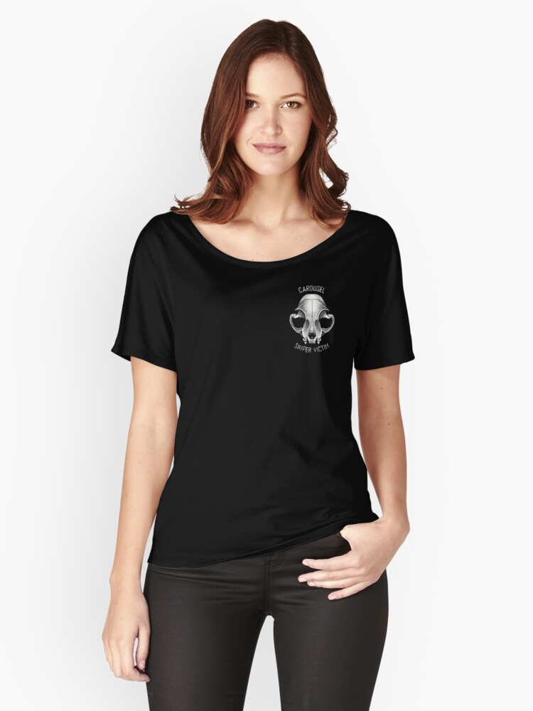 Carousel Sniper Victim O.G (black tee Optimised)  Women's Relaxed Fit T-Shirt Front
