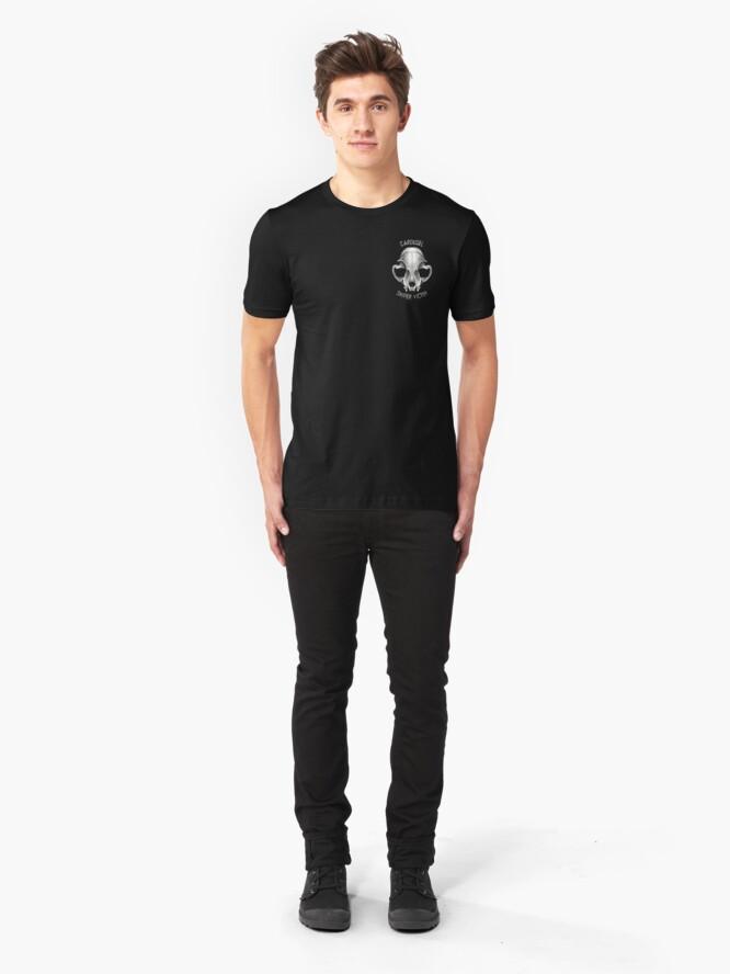 Alternate view of Carousel Sniper Victim O.G (black tee Optimised)  Slim Fit T-Shirt