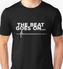 Heart Attack Survivor Gifts Tshirt: The Beat Goes On... Unisex T-Shirt