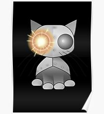 Robokitty Robot Cat Grey Poster
