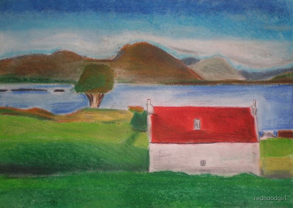 Red roof house scotlands  by redhoodgirl