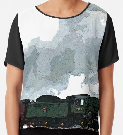 Oliver Cromwell Poster bywhacky Women's Chiffon Top