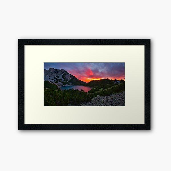 Sinanica lake at sunset, Bulgaria Framed Art Print