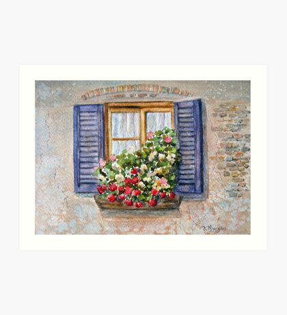 Italian Window Art Print