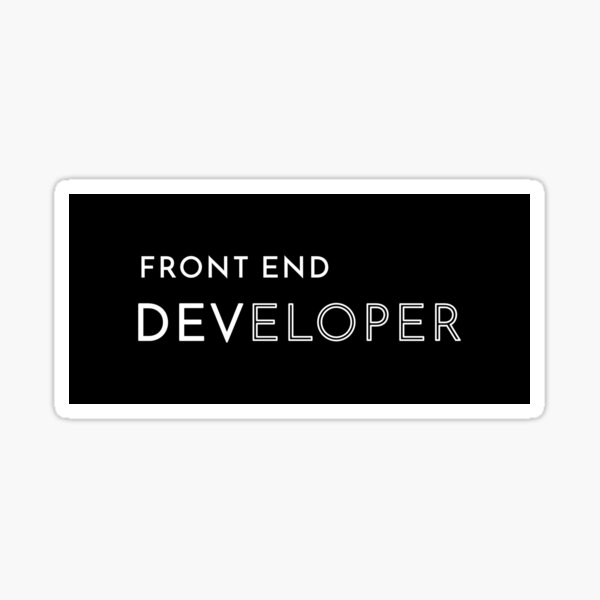 Front End Developer Sticker