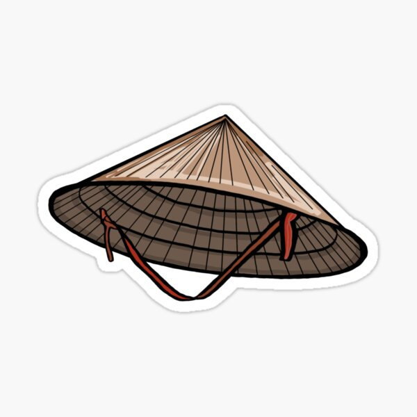 Conical Hat Sticker