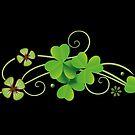 St Patricks Day. Realistische Kleeblätter. Irish. von Christine Krahl