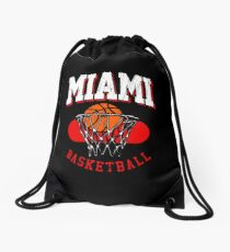 Miami Basketball Retro Design Drawstring Bag
