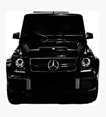 Mercedes-Benz G63 AMG Wagon 4MATIC Front Black Photographic Print