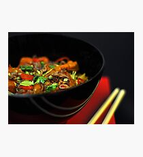 Chinese Noodles  Photographic Print