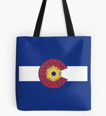 Ride Colorado (Bicycle Cassette) Tote Bag