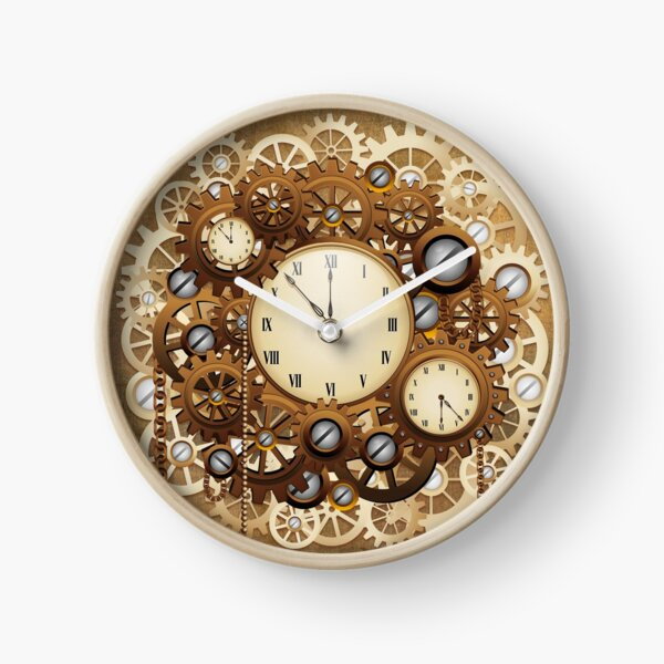 Steampunk Clocks and Gears Vintage Style  Clock