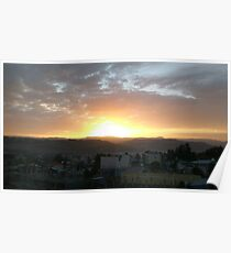 Sunset in Gondar Poster