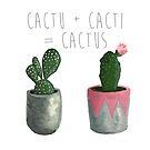 Cactu + Cacti = Cactus by teekastreasures