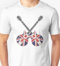 British Mod Union Jack Guitars T-Shirt