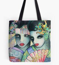 Geisha Girls Holding a Fan Tote Bag