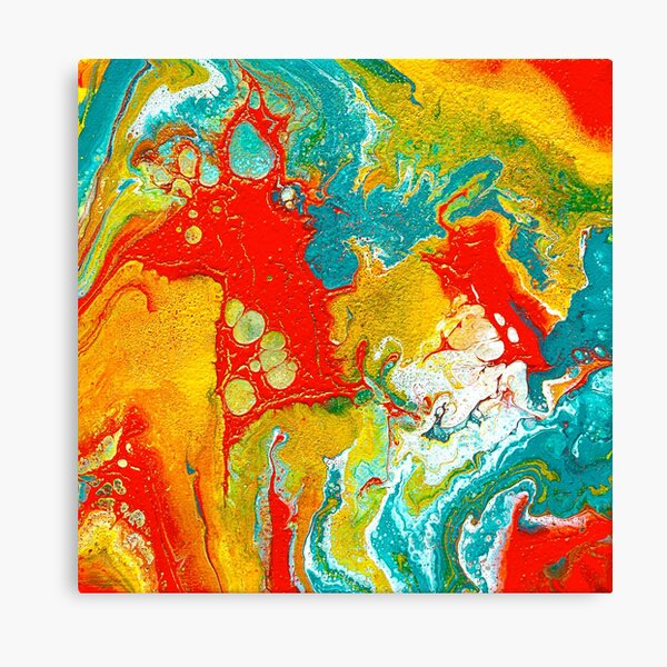 Colorful Fluid Art Canvas Print