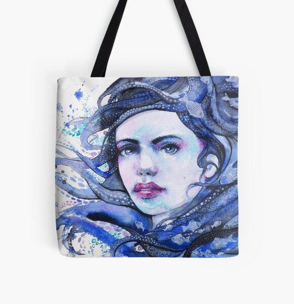 Sea Girl All Over Print Tote Bag