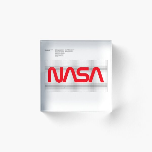 1976 NASA Graphics Standards - Logotype Acrylic Block