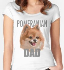 Pomeranian Dad Dog Women's Fitted Scoop T-Shirt