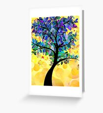 Colorful abstract tree Greeting Card