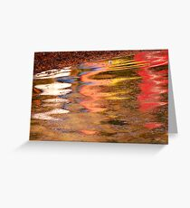 Boat Reflections  Greeting Card