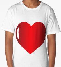 Red heart Long T-Shirt