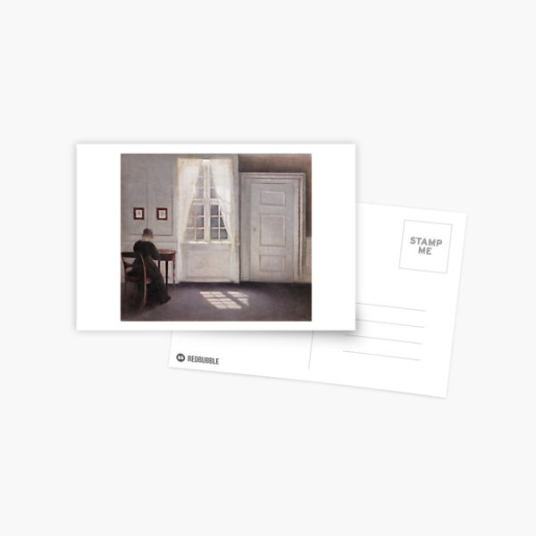 A Room in the Artist's Home by Vilhelm Hammershoi Postcard