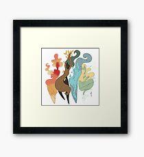 Four elements Framed Print