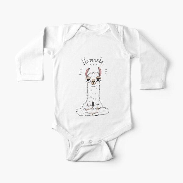 Llamaste Long Sleeve Baby One-Piece