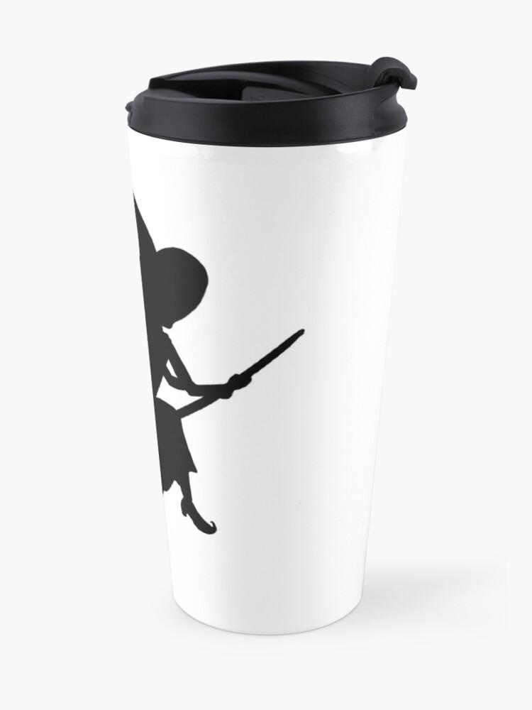 Alternate view of Lilya the Witch flying Travel Mug