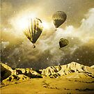Gold Space Balloon - Design by doublel19