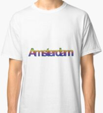 Amsterdam in rainbow colors, Gay Pride Flag Classic T-Shirt
