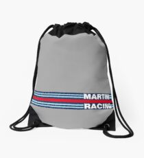 Martini Racing horizontal stripe Drawstring Bag