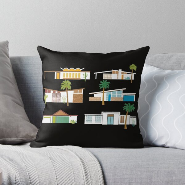 Palm Springs Houses Throw Pillow