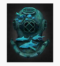 Deep diving Photographic Print