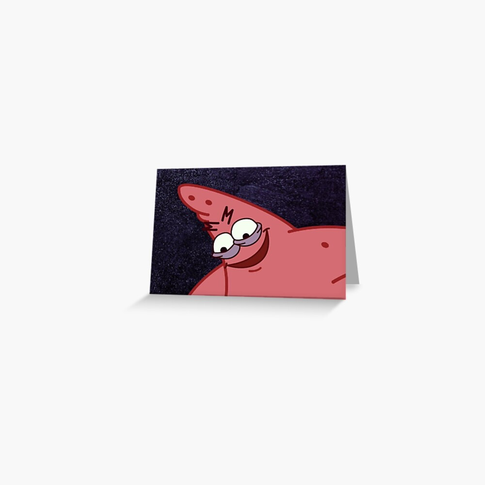 """""""Evil Patrick Meme in HD"""" Greeting Card by Sbooth9   Redbubble"""