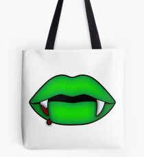 Green Decay (Vamp Lips) - Friday the 13th Tote Bag